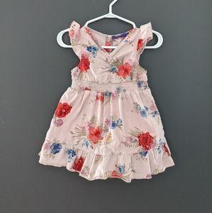 Mexx baby pink floral print dress 9-12 months